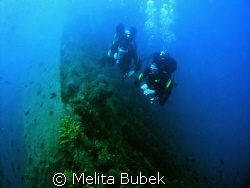 wreck Tihany near island Unije ( Losinj, Croatia),  Oly C... by Melita Bubek 
